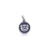 Small Round Dirty Dash Logo Charm