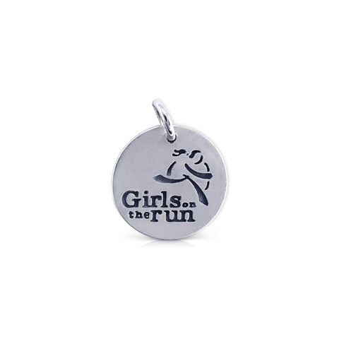 Large Round Girls on the Run Logo Charm