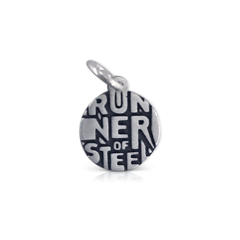 Small Round Runner of Steel Charm