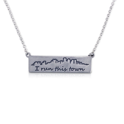 """I run this town"" Skyline Necklace, Boston"