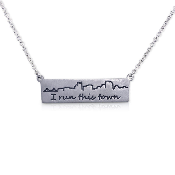 """I run this town"" Skyline Necklace, Pittsburgh"