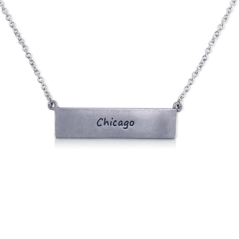 """I run this town"" Skyline Necklace, Chicago"