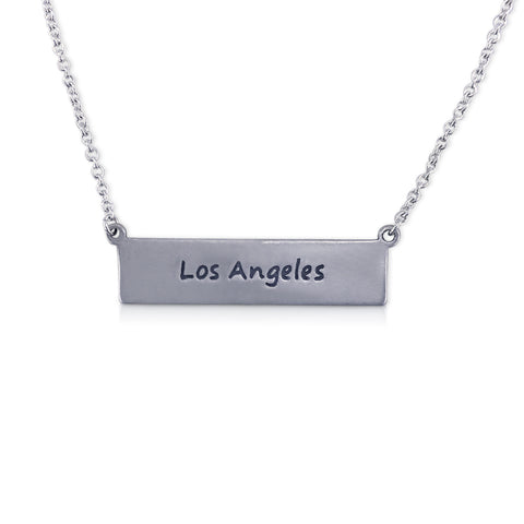 """I run this town"" Skyline Necklace, Los Angeles"