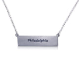 """I run this town"" Skyline Necklace, Philadelphia"
