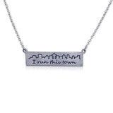 """I run this town"" Skyline Necklace, Seattle"