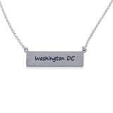 """I run this town"" Skyline Necklace, Washington D.C."