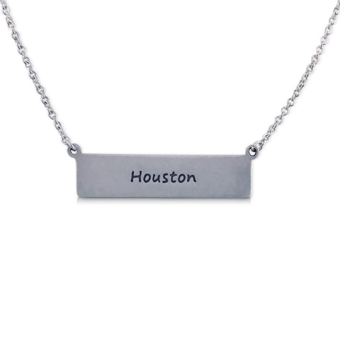 """I run this town"" Skyline Necklace, Houston"