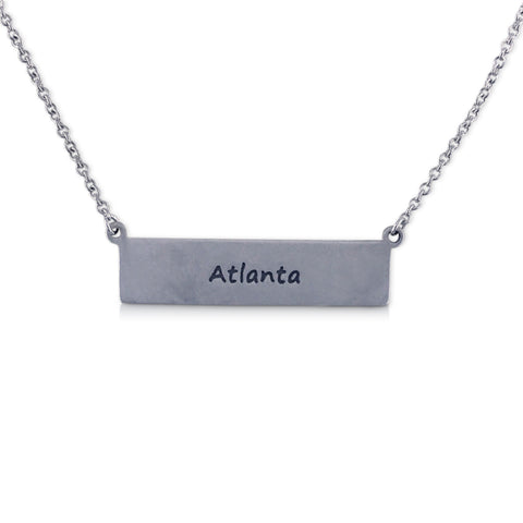 """I run this town"" Skyline Necklace, Atlanta"