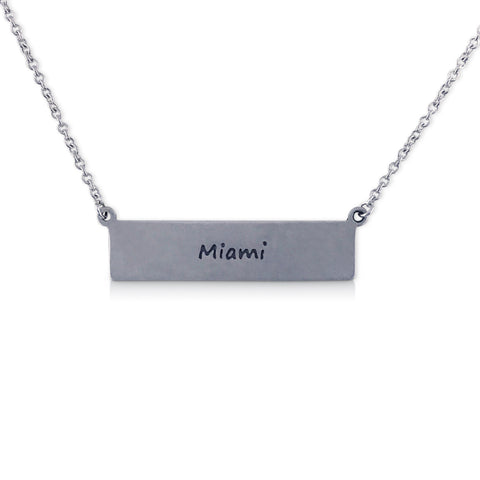 """I run this town"" Skyline Necklace, Miami"