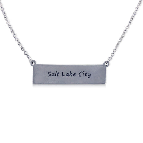 """I run this town"" Skyline Necklace, Salt Lake City"
