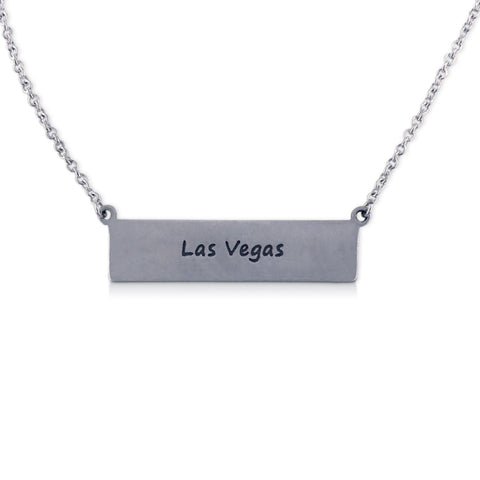 """I run this town"" Skyline Necklace, Las Vegas"