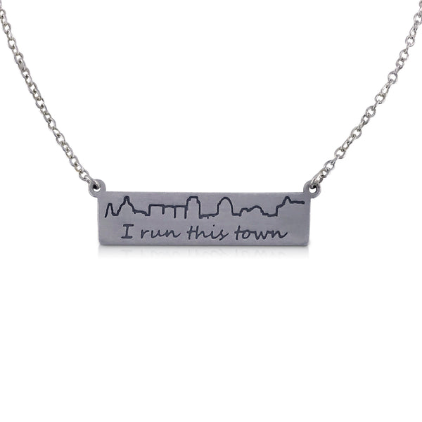 """I run this town"" Skyline Necklace, St Paul"