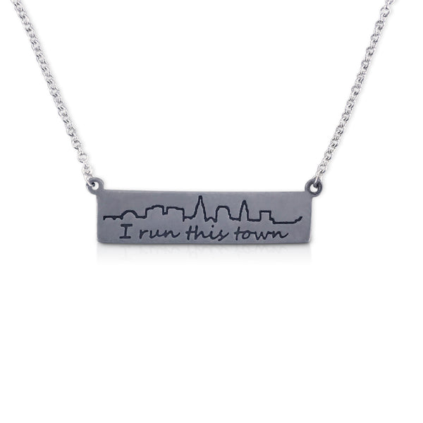 """I run this town"" Skyline Necklace, Cleveland"