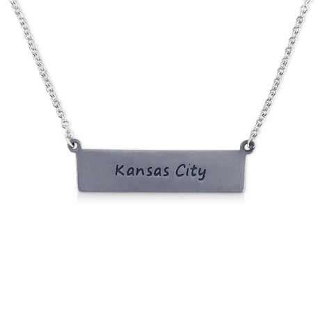 """I run this town"" Skyline Necklace, Kansas City"