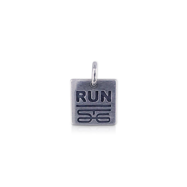Square RUN St. George logo Charm
