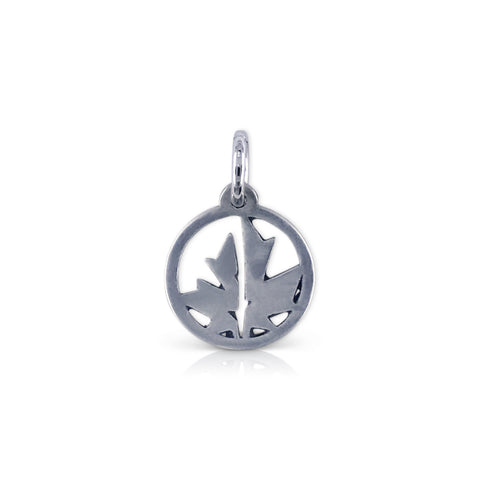 Small Cutout TCM Leaf Logo Charm