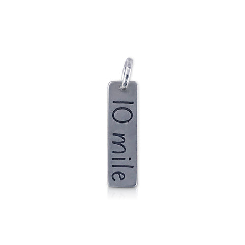 "Rectangle ""10 Mile"" Charm"