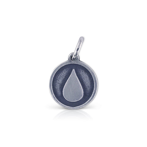 Small Round Team in Training Logo Charm