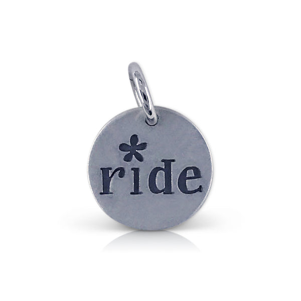"Small Round Pedalfest ""ride"" Charm"