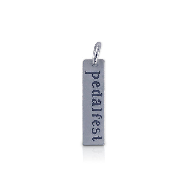 "Rectangle ""pedalfest"" Charm"