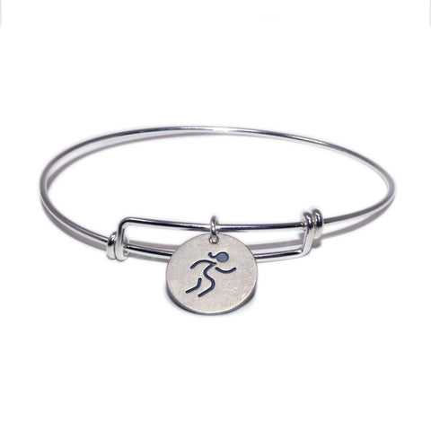 "Large Round ""Runner Girl"" Bangle"