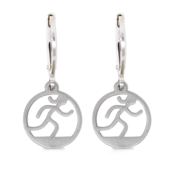 Small Cutout Runner Girl Earrings