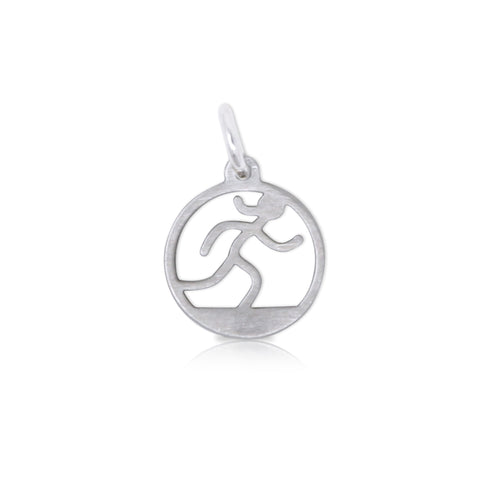 Small Cutout Runner Girl Charm
