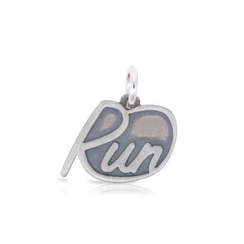 Large Cursive Run Charm