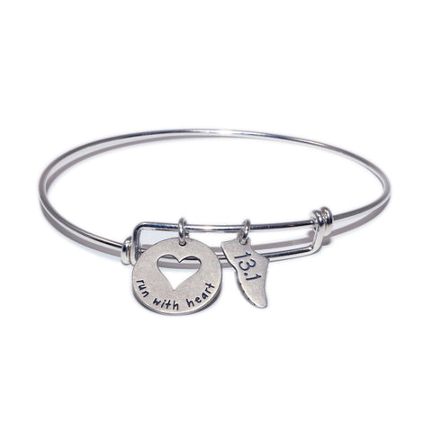 Run 13.1 With Heart Bangle