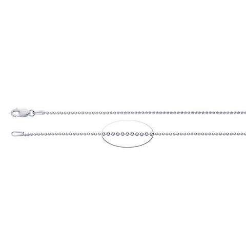 1.5mm Sterling Silver Diamond Cut Bead Chain