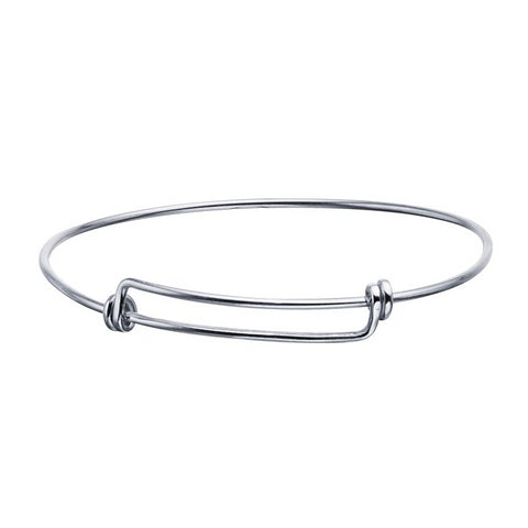 1.6mm Sterling Silver Expandable Bangle Bracelet