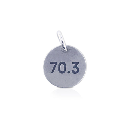 "Small Round ""70.3"" Charm"