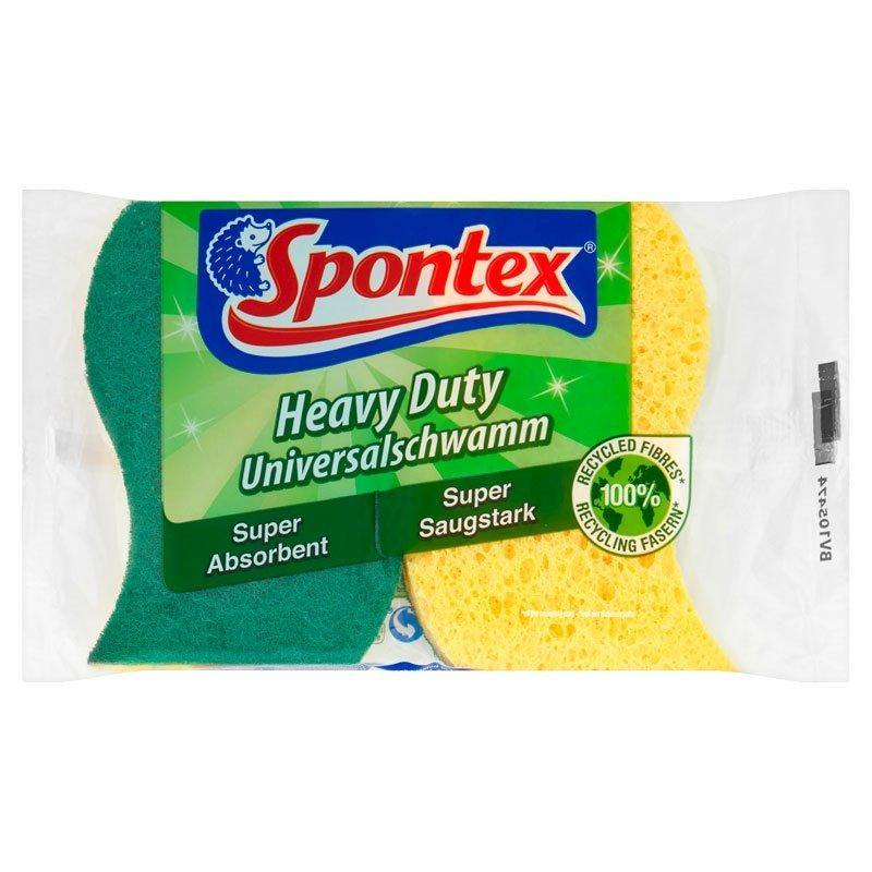 Heavy Duty Super Absorbent Sponge Scourer (2 Pack)