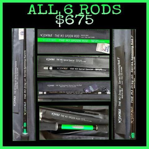 ALL 6 RODS FOR $675