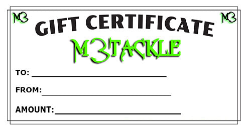 M3TACKLE GIFT CARDS
