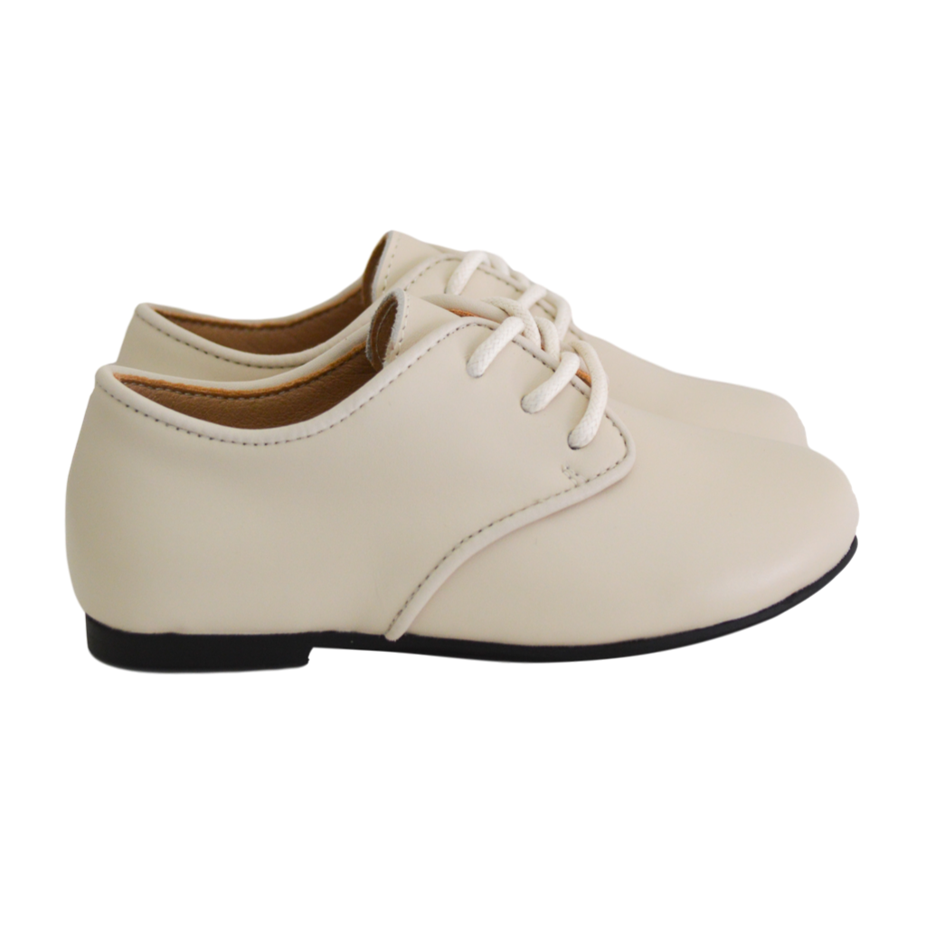 Harper Leather Hardsole Brogues - Ivory