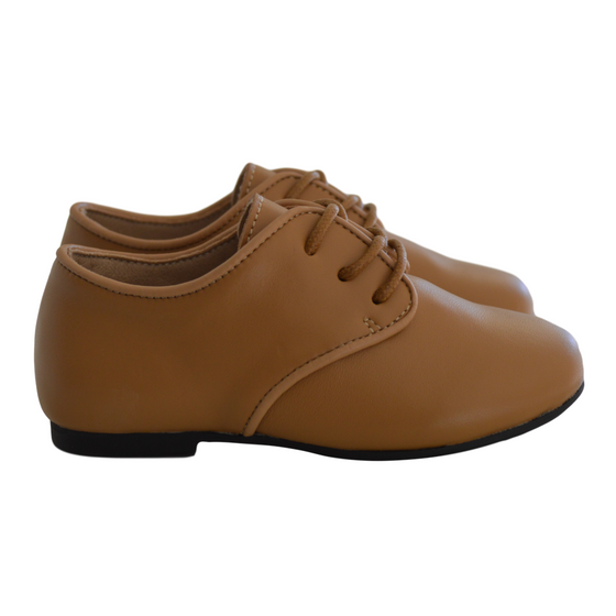 Harper Leather Hardsole Brogues - Tan