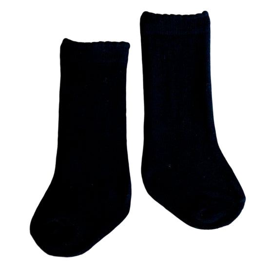 Quinn Knee Socks in Black
