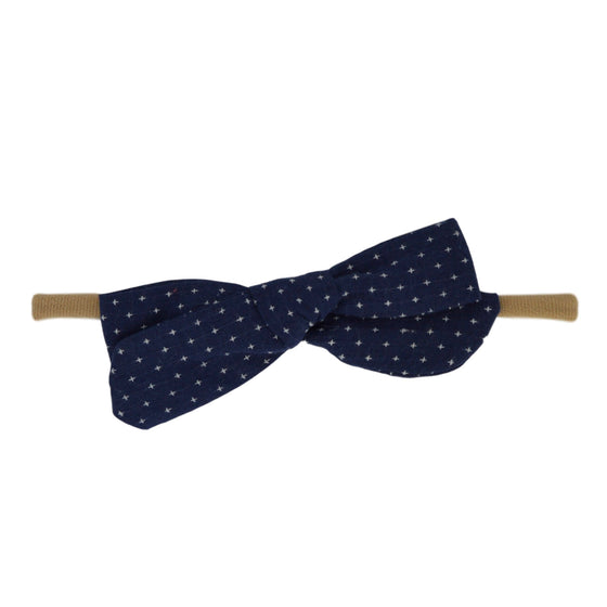 Starry Night Bow in Navy