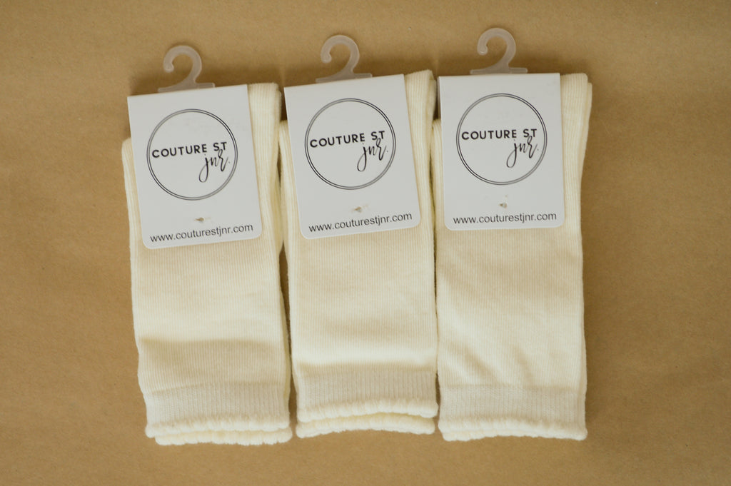 Quinn Knee Socks in Cream