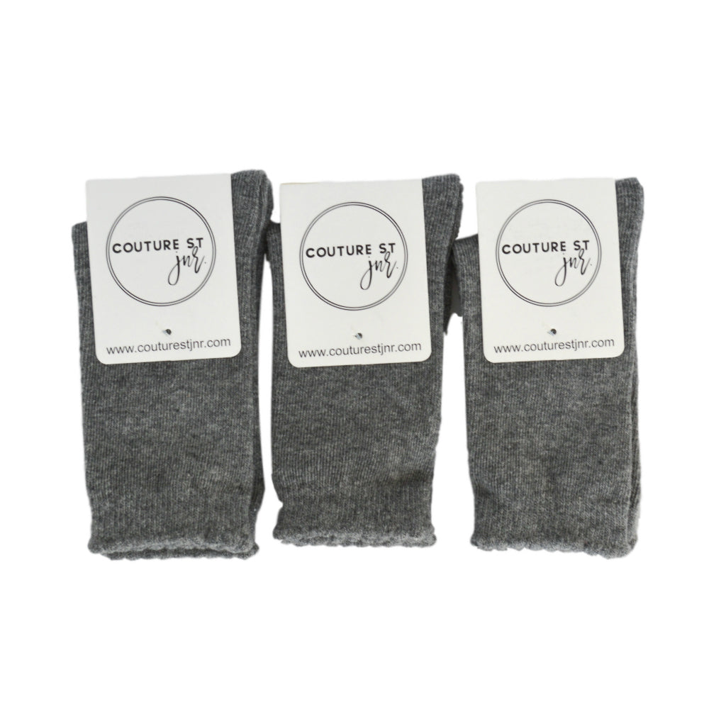 Quinn Knee Socks in Light Grey