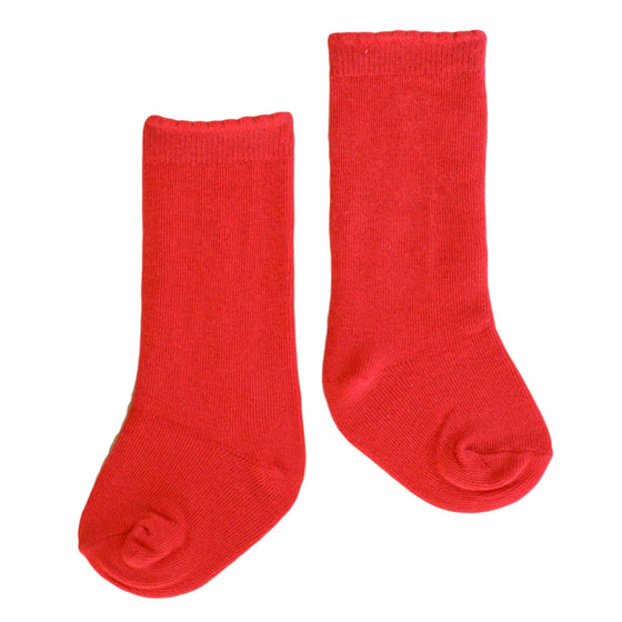 Quinn Knee Socks in Letterbox Red