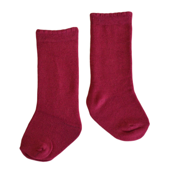 Quinn Knee Socks in Wine