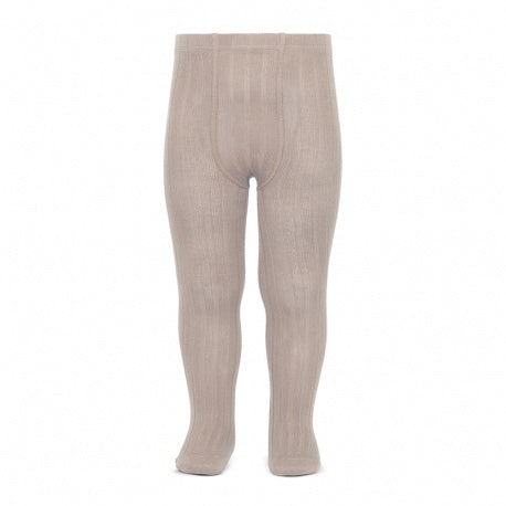 Condor Ribbed Tights (334) Stone