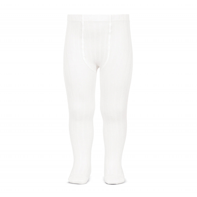 Condor Ribbed Tights (200) White