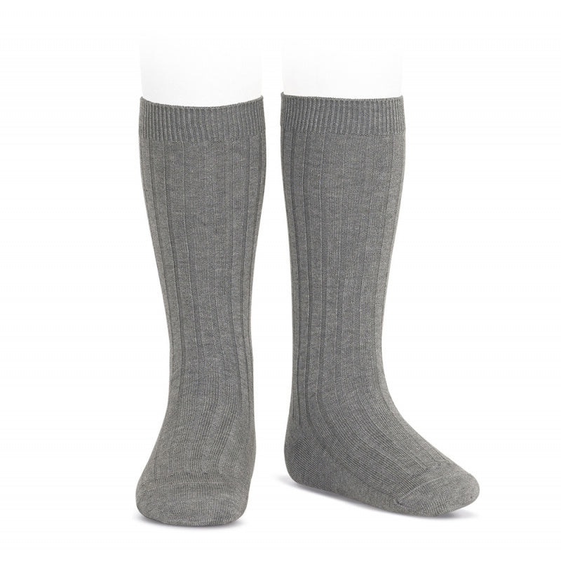 Condor Ribbed Knee Socks (230) Light Grey