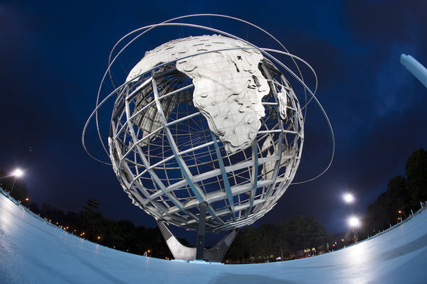 A photo of the Flushing Meadows landmark of the globe. Photo is a free high resolution stock image to use any way you choose.