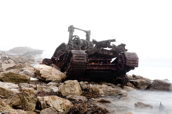 A photo of a tank wreckage in San Pedro. Photo is a free high resolution stock image to use any way you choose.