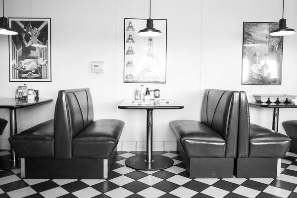 A photo of a classic diner in Flagstaff Arizona. Shot in black and white. Photo is a free high resolution stock image to use any way you choose.