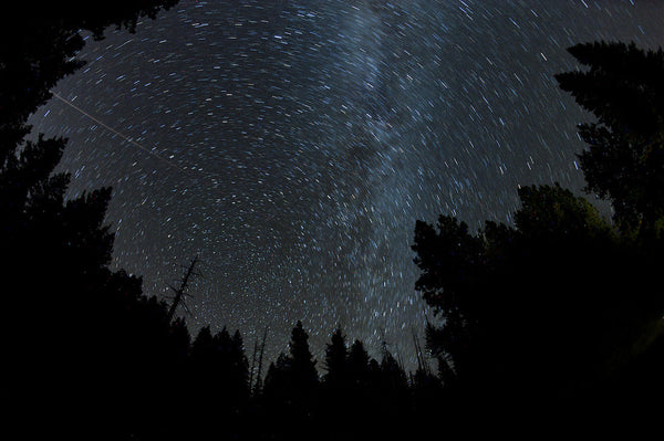 A photo of a starry night sky. Photo is a free high resolution stock image to use any way you choose.